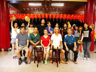 "The students of the NCYU Department of Foreign Languages learned how to play Beiguan instruments from Mr. Chen Chao-Jiang, a master from ""Wu-Feng Xuan Beiguan Theatre"" in Shin-Kang Township."
