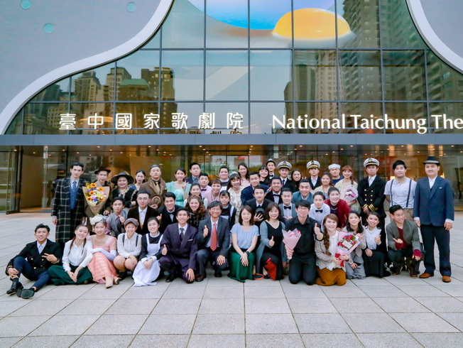 Performers of the musical, Titanic, at the National Taichung Theater