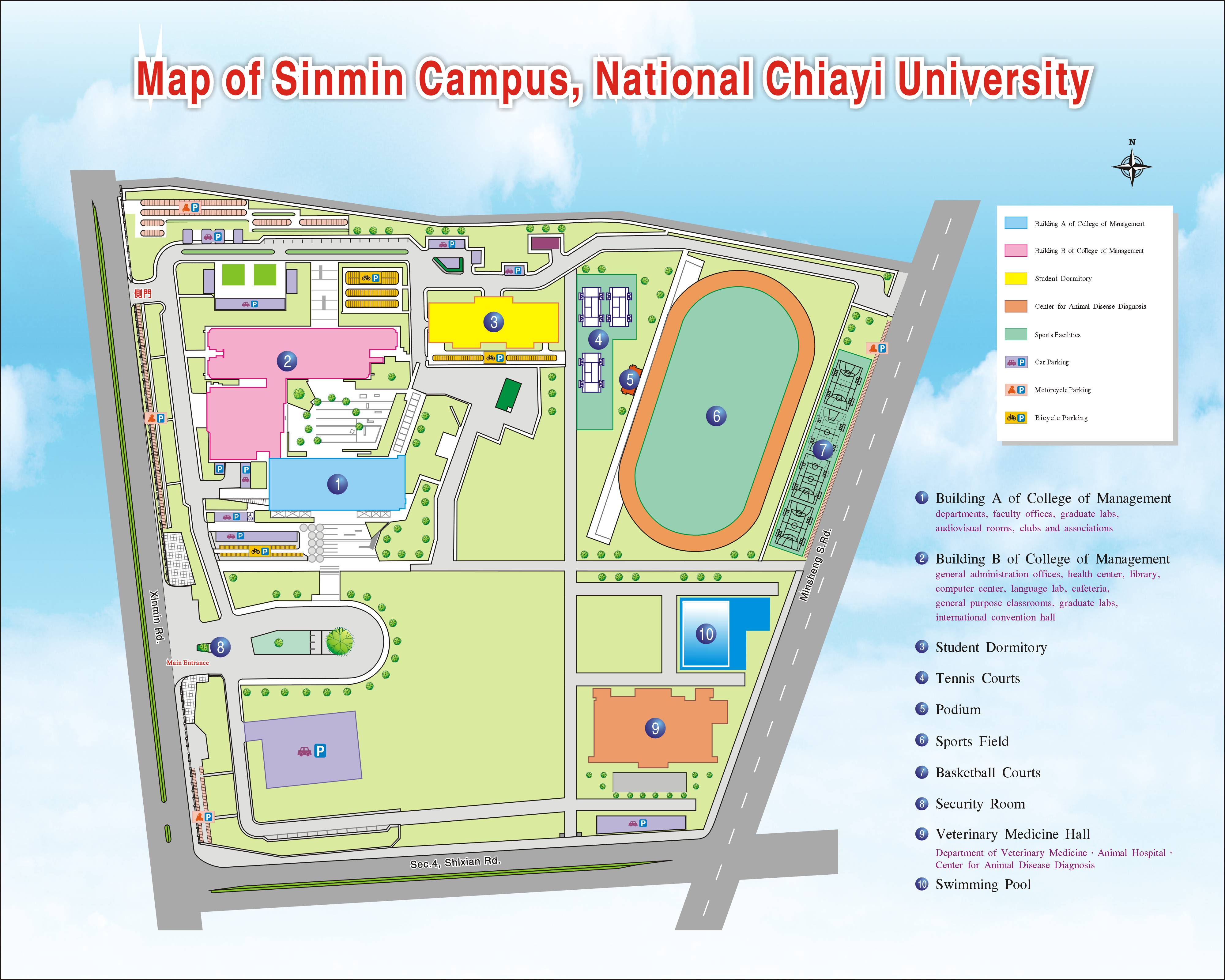 Map of Campus--Welcome to National Chiayi University National Sports Center Field Map on