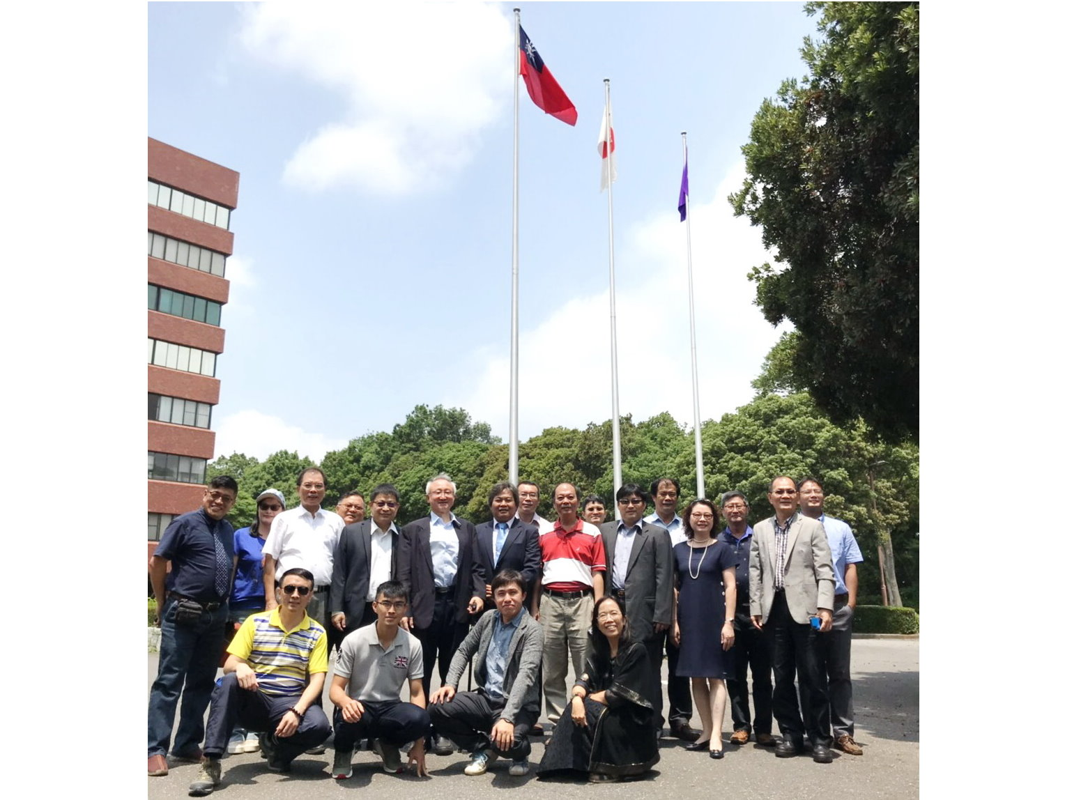 University of Tsukuba raised the national flag of the Republic of China to welcome the NCYU delegation.